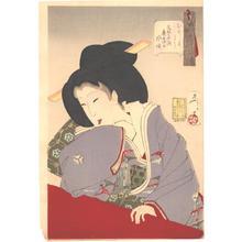 月岡芳年: Looking Amused - Japanese Art Open Database