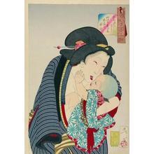 月岡芳年: Looking Cute - Japanese Art Open Database