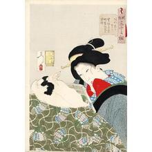 Tsukioka Yoshitoshi: Looking Warm - Japanese Art Open Database