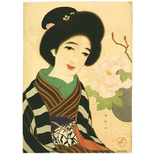 Takehisa Yumeji: Peony in Winter - Japanese Art Open Database
