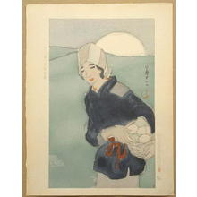 Takehisa Yumeji: The Rising Moon — 月の出 - Japanese Art Open Database