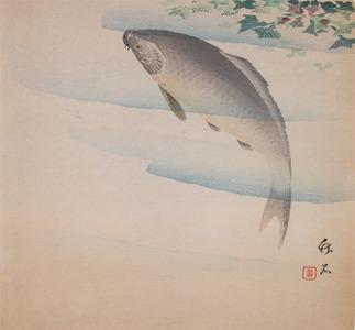 長町竹石: Carp and Mizukusa - Ronin Gallery