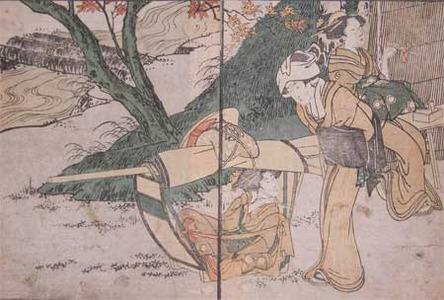 Kitagawa Utamaro: Maple Viewing - Ronin Gallery