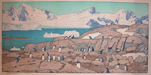 吉田遠志: Gentoo Penguins - Ronin Gallery