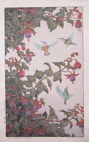 吉田遠志: Hummingbirds and Fuchsia - Ronin Gallery