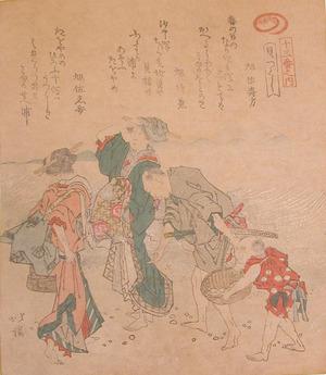 Totoya Hokkei: Gathering Shells - Ronin Gallery