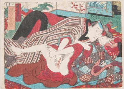 歌川国貞: Lovers in the Yoshiwara - Ronin Gallery