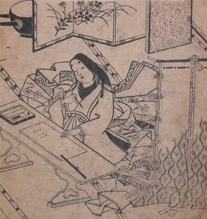 菱川師宣: Beautiful Novelist - Ronin Gallery