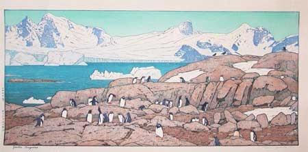 吉田遠志: Gentoo Penguins - Ronin Gallery