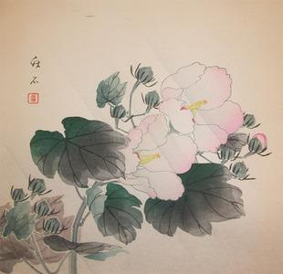 Nagamachi Chikuseki: Cotton Rose in Rain - Ronin Gallery