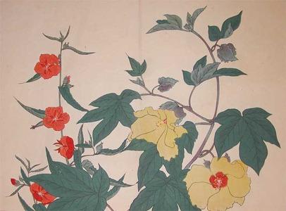Sakai Hoitsu: Cotton Flower and Scarlet Mallow - Ronin Gallery