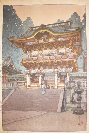 吉田博: Yomen Temple Gate - Ronin Gallery