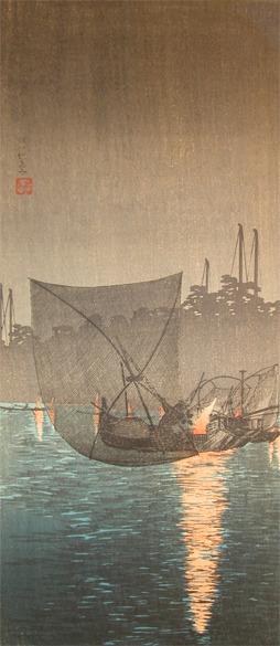 Watanabe Shotei: Fishing Nets - Ronin Gallery
