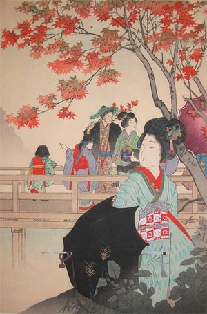 Shuntei: Maple Viewing - Ronin Gallery