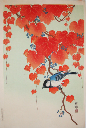 Shoson: Tit and Wild Grapes - Ronin Gallery