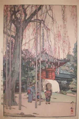 吉田博: Cherry Tree in Kawagoe - Ronin Gallery