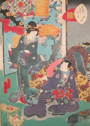 二代歌川国貞: Chapter XI; Hanachirusato - Ronin Gallery