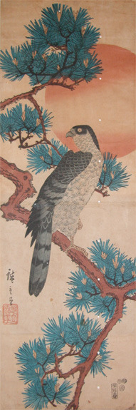 歌川広重: Hawk on Pine - Ronin Gallery