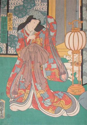 二代歌川国貞: Kabuki Actor Sawamura Tanosuke as the Princess - Ronin Gallery