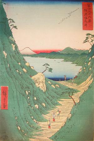 歌川広重: Shiojiri-toge, Shinano - Ronin Gallery