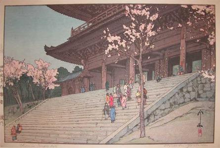吉田博: Chionin Temple Gate - Ronin Gallery