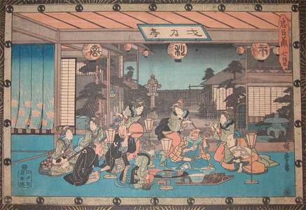 Utagawa Hiroshige: Tea House - Ronin Gallery