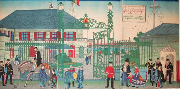 Utagawa Hiroshige II: Embassy of France - Ronin Gallery