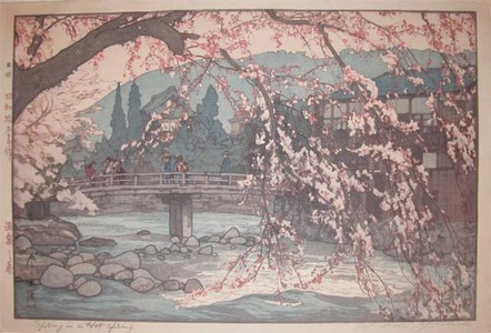 Yoshida Hiroshi: Fast Moving Waters: Spring in a Hot Spring - Ronin Gallery