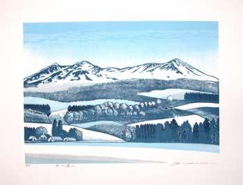 Hagiwara, Tsuneyoshi: Winter Mountains - Ronin Gallery