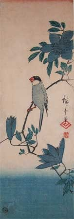 歌川広重: Tit on a Branch - Ronin Gallery
