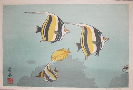 Yoshida Toshi: Hawaiian Fishes A - Ronin Gallery