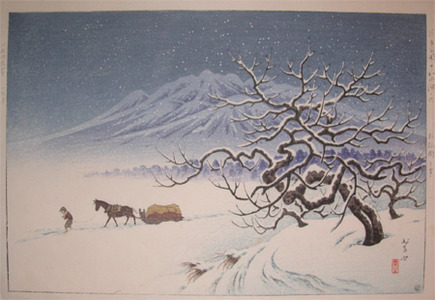Henmi Takashi: Apple Tree in Snow at Towada Park - Ronin Gallery