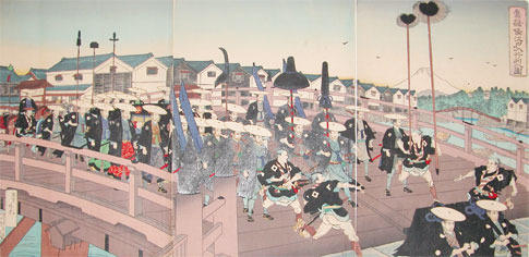 Adachi Ginko: Entering Edo - Ronin Gallery