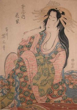 Kikugawa Eizan: Courtesan Hanamurasaki from the House of Tamaya - Ronin Gallery