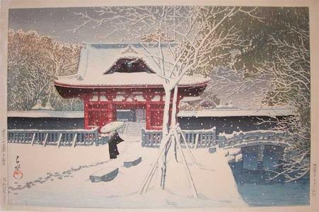 Kawase Hasui: Snow at Shiba Park - Ronin Gallery