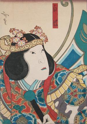 歌川広貞: White Butterfly - Ronin Gallery