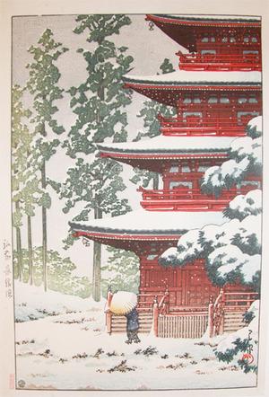 川瀬巴水: Saishoin Temple in Snow, Hirosaki - Ronin Gallery