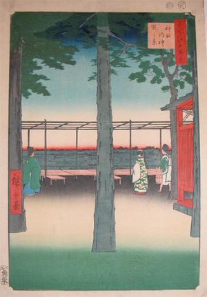 Utagawa Hiroshige: Dawn at Kanda Myojin Shrine - Ronin Gallery