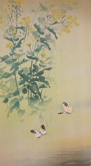 無款: Butterflies and Nanohana - Ronin Gallery