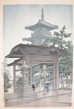 川瀬巴水: Zentsu-ju Temple - Ronin Gallery