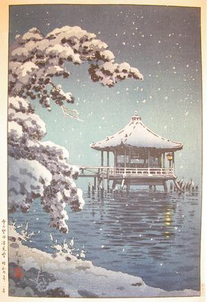 風光礼讃: Snow at Ukimido, Katada - Ronin Gallery