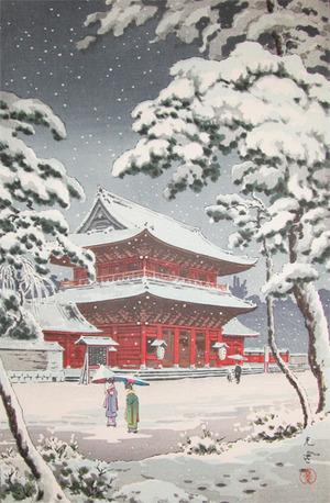 風光礼讃: Snow at Zojo Temple - Ronin Gallery