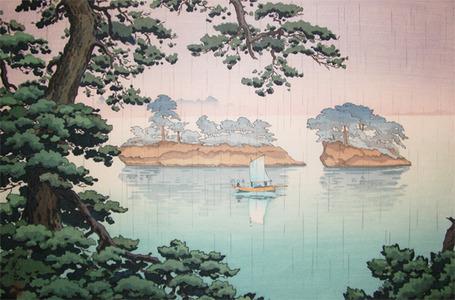 風光礼讃: Spring Rain, Matsushima - Ronin Gallery