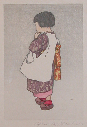 吉田博: Young Girl - Ronin Gallery