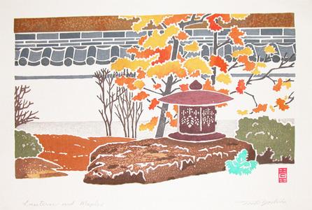 吉田遠志: Lantern and Maples - Ronin Gallery
