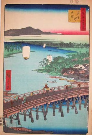 歌川広重: Great Bridge at Senju - Ronin Gallery