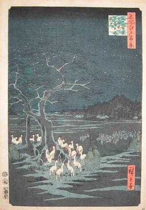 歌川広重: Foxfires on New Year's Eve at Oji - Ronin Gallery