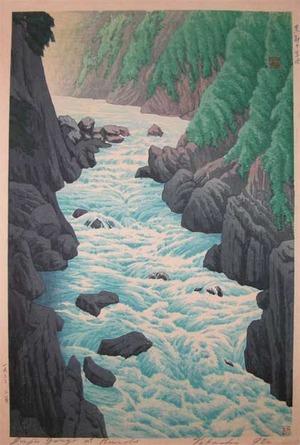 Henmi Takashi: Juji Gorge at Kurobe River - Ronin Gallery