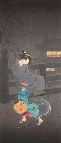 Watanabe Shotei: Cold Winter Wind - Ronin Gallery