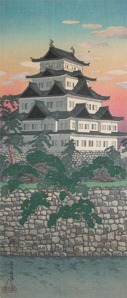 渡辺省亭: Nagoya Castle - Ronin Gallery